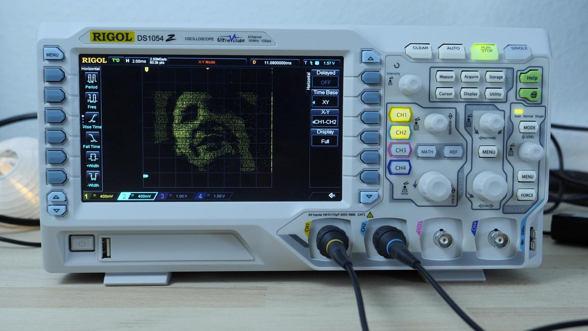 Using A Digital Oscilloscope : Oscilloscope as a display bitluni s lab